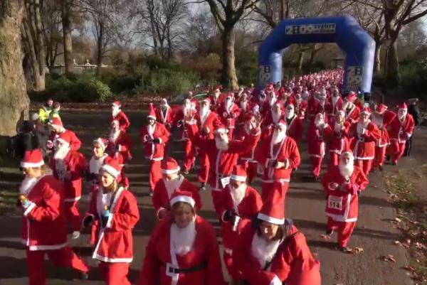 Santa Claus for charity run in London.jpg